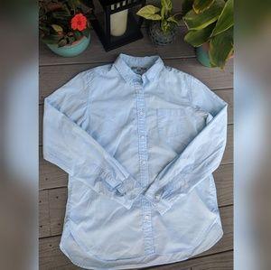 Light Blue Woman's Button-Up